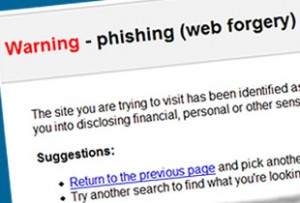 phishing warning 300x203 Phishers are Using Bank Failures to Increase Scam Success