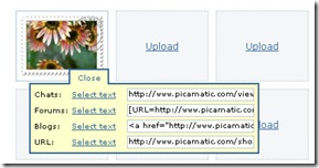 picomatic links thumb Picamatic   Photo Sharing As Simple As Possible