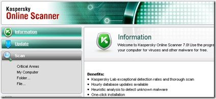 kapersky online virus scanner