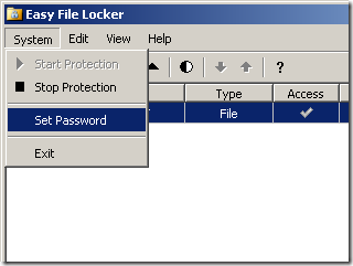 easy file locker set password