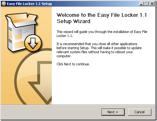 easy file lock setup thumb Paranoid About Your Sensitive Files   This Utility May Help You Sleep At Night