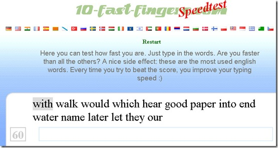 speedtest-ten-fast-fingers-interface