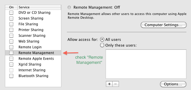 remote managment How to control a Mac from a Windows PC