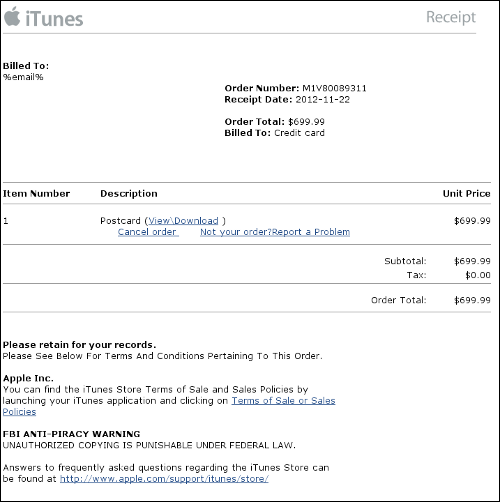 fake apple invoice